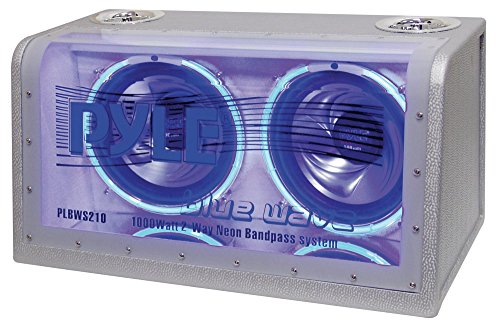 PYLE PLBWS212 Dual 12-Inch 1200 Watt Bandpass with Neon Woofer Rings (12' Bandpass Enclosure)