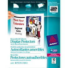 Avery Removable Self Adhesive Display Protectors, Clear, 10 Sheets (78620)