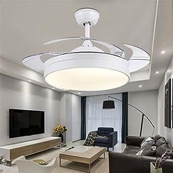 Mmynl invisible simple ventilador ventilador de techo con - Lamparas de techo ventilador ...