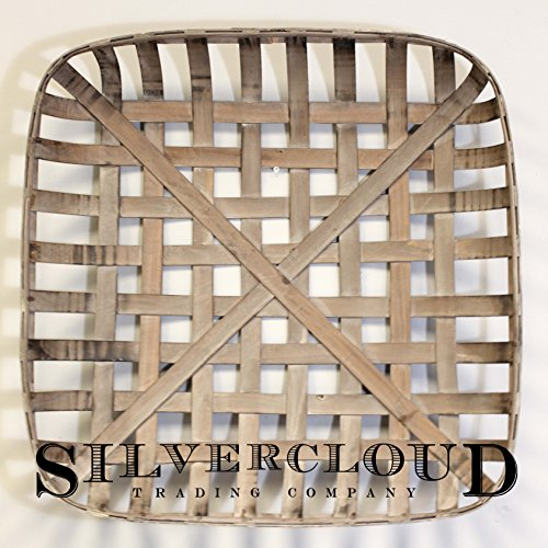 Silvercloud Trading Co. Tobacco Basket, Farmhouse Decor, Large 25
