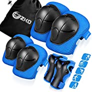 Kids/Teenager Protective Gear, Knee Pads and Elbow Pads 6 in 1 Set with Wrist Guard and Adjustable Strap for R