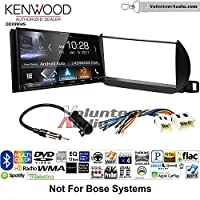 Volunteer Audio Kenwood DDX9904S Double Din Radio Install Kit with Apple CarPlay Android Auto Bluetooth Fits 2002-2004 Nissan Altima (Without Bose)