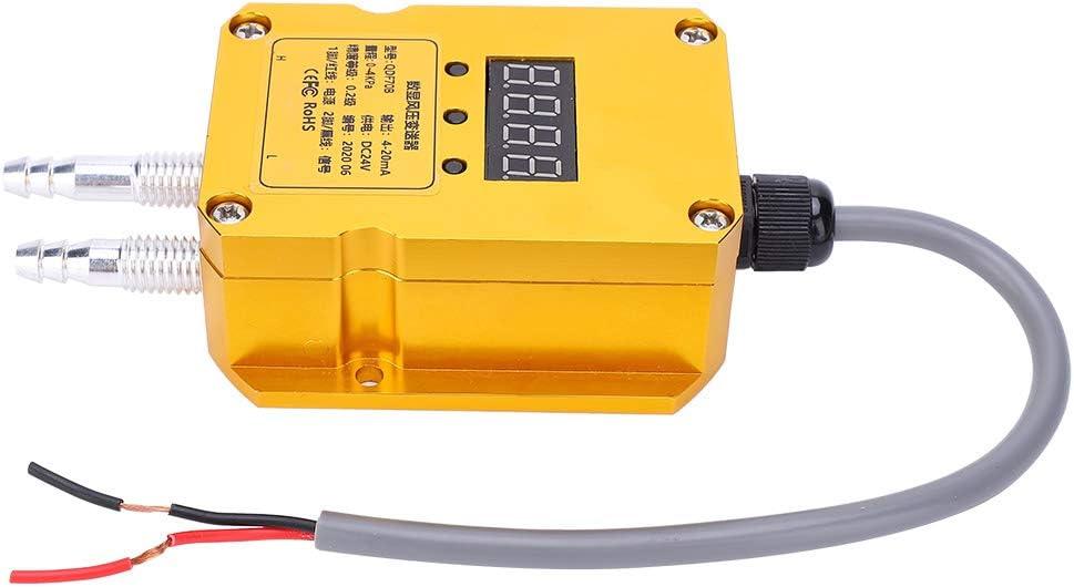 Weikeya Transmisor de presión de Viento Digital, Ventilador de Escape de ventilación de Hilo M10 de 85 mm -30-80 ℃ con aleación de Aluminio (Amarillo)