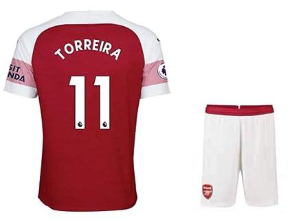 the best attitude 76b05 b83e8 Amazon.com : ZZXYSY Torreira #11 Arsenal Men's Home Soccer ...