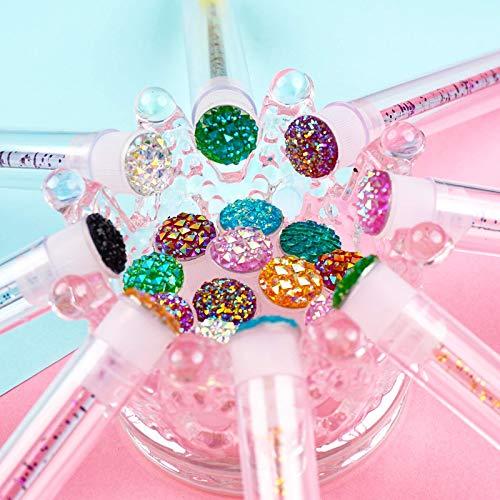 i-Laesh 50 Pcs disposable mascara brushes, Mascara Wands with Tube - Multi-color/Assorted color Diamond Lash wands, disposable mascara wands with tube