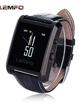 reloj inteligente lemfo lf06 resistente al agua bluetooth ips SmartWatch resistencia a la caída de la pantalla táctil con cámara , silver: Amazon.es: ...