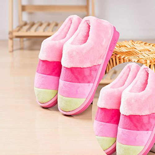 LaxBa Donna Uomo Piscina antiscivolo pantofole pattini 2a doppio Girl Pink 36