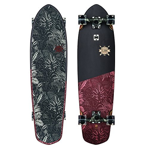 - GLOBE Skateboards Blazer XL Longboard Complete Skateboard, Black/Red Forester, 36