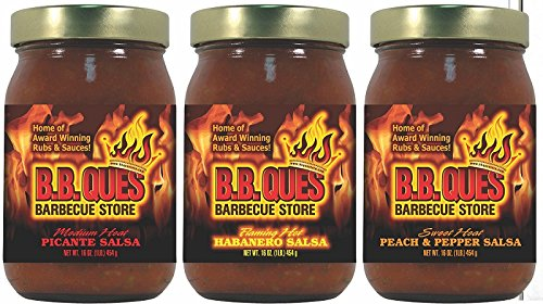 B.B. Ques Three Salsa Sampler Gift Set - 16 oz. ea.