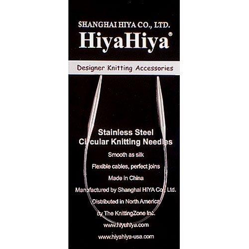 HiyaHiya Circular 9-inch (23cm) Steel Knitting Needle; Size US 6 (4mm) HISTCIR9-6 by HiyaHiya