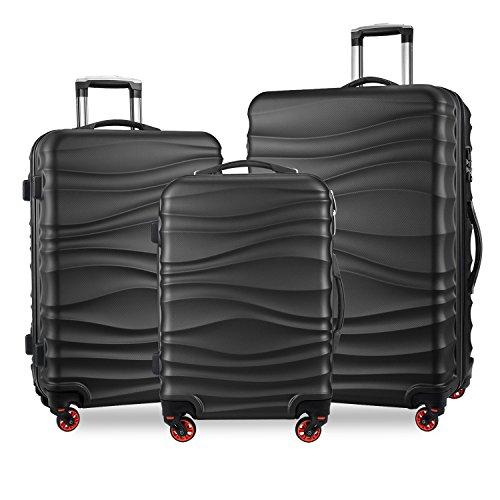YUTING 3 Piece Luggage Sets Expandable Spinner Suitcase Alloy Impact Level 9
