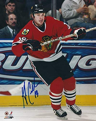 (Autographed Signed Kyle Calder 8x10 Chicago Blackhawks Photo - Certified)