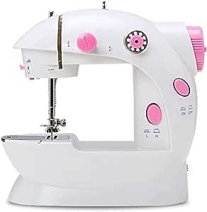 AYES - Máquina de coser electrónica, portátil, mini máquina de coser manual familiar, máquina de coser especial european standard rosa: Amazon.es: Hogar