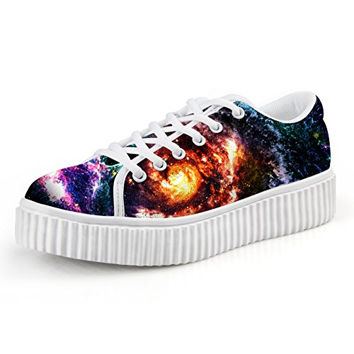 Galaxy Fashion Platform up Galaxy 3 HUGS IDEA Women's Sneakers Shoes Lace wF1Izq