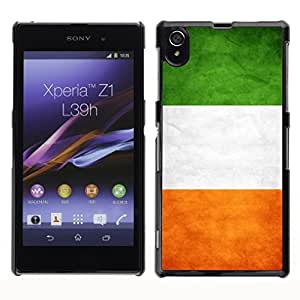 Shell-Star ( National Flag Series-Ireland ) Snap On Hard Protective Case For SONY Xperia Z1 / L39H / C6902 / C6903 / C6906