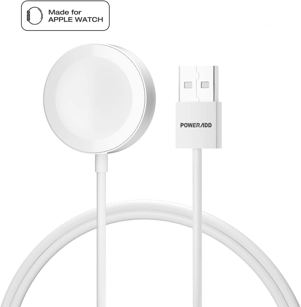 Poweradd [Apple MFi Certified] Apple Watch Charger, iWatch Magnetic Charging Cable 3.Feet/1Meter Compatible with iWatch 38mm & 42mm, Apple Watch Series 4/3/ 2/1