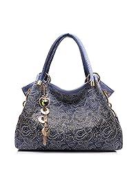 Realer Women's Designer Handbags Tote Purse PU Leather Fashion Top Handle Bags