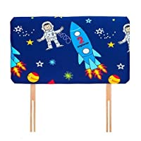Ready Steady Bed Space Boy Design Children's Single Headboard 3ft Bed Size Foam Upholstered