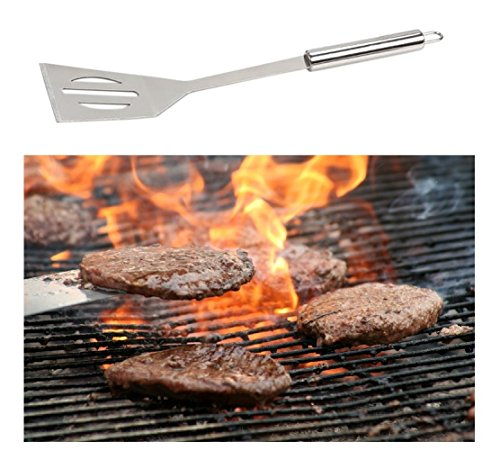 OLIVIA & AIDEN 6 Piece Stainless Steel BBQ Accessory Set - BBQ Spatula, BBQ Tongs, BBQ Fork, Grill Scrubber Brush, Meat Thermometer, Heat Resistant BBQ Glove and Carry Case - Great Value BBQ Tool Set by Olivia's Home Goods (Image #2)