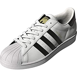 adidas Originals Men's Superstar Sneaker, Black/Black/White, 16 M US