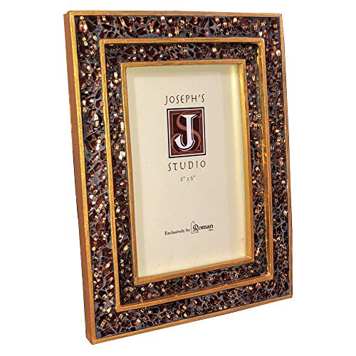 Roman Peace To All Picture Frame Gold Brown Mosaic Table Top Desk Photograph Portrait Landscape Photo Frames Pictures Stand Display (Mosaic Tabletop Ideas)