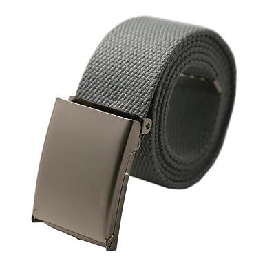 Maikun hombres de Tactical cinturón hebilla de metal negro Lienzo Cinturón  gris gris 105  Amazon.es  Ropa y accesorios f547436552af
