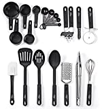 #5: Kitchen Utensil Set - 20 Piece Stainless Steel Cooking Utensils - Nonstick Utensils Spatula Set  Non-stick Heat Resistant Kitchen Cooking Utensils Cookware Set - Best Kitchen Tool Set by HCHUANG