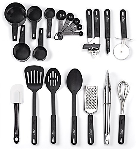 Kitchen Utensil Set - 20 Nylon and Stainless St...