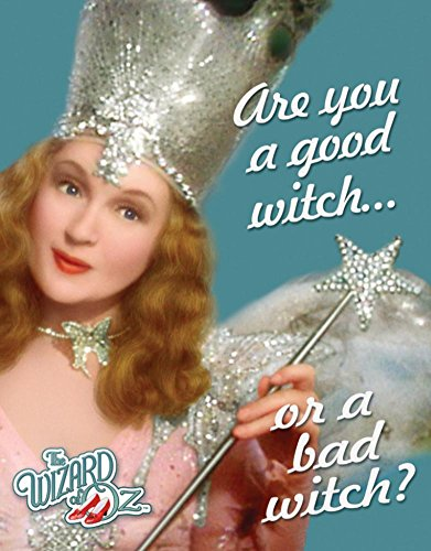 Wizard of Oz Good or Bad Witch Tin Sign 12 x (Bad Witch Tin Sign)