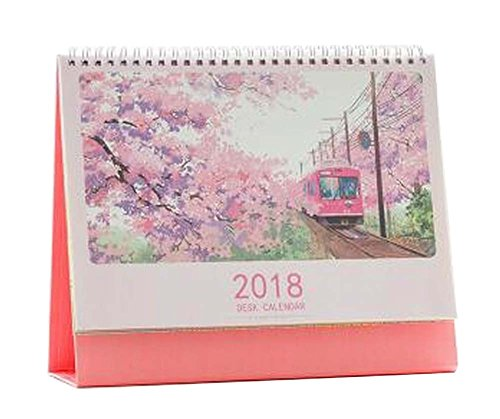 October 2017 to December 2018 Desk Calendar Desktop Calenda