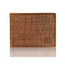 Leaderachi Brown 100% Genuine Leather Croco Wallet