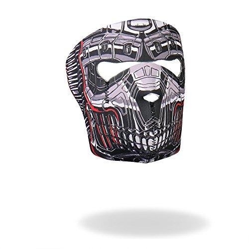 Hot Leathers Robo Skull Neoprene Face Mask (Black) ()