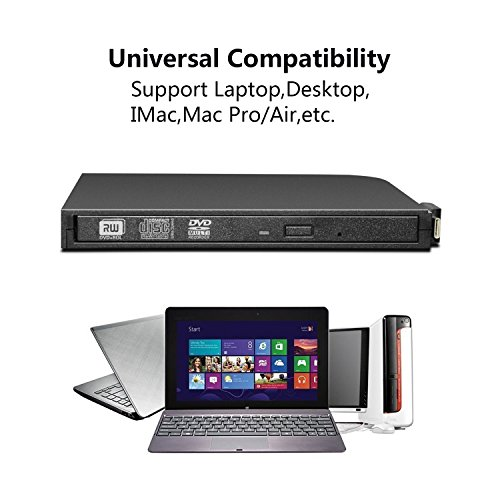 DVD Drive PC Computer CD,External USB Optical Player, Ultra-Thin Portable Type-C DVD Burner/Writer/Rewriter Various Brands Laptop Desktop All-in-one Machines so on by tengertang (Image #6)