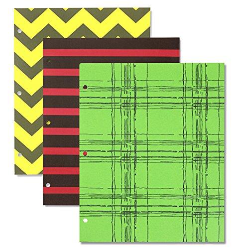 Durable Two-Pocket Paperback Design School Binder Folder, 3-Pack Bundle -