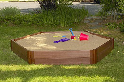 Frame It All Two Inch Series 7' x 8' x 11'' Composite Hexagon Sandbox Kit by Frame It All