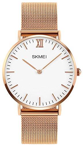 Gold Lover Watch (Luxury Men Women Fashion Casual Watch 30M Waterproof Simple Ultra-thin Design Wristwatches (Steel Gold))