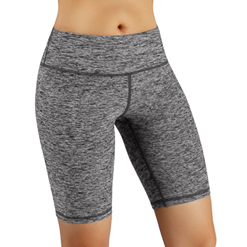 ODODOS Power Flex Women's Tummy Control Workout Running Shorts Pants Yoga Shorts With Hidden Pocket, GrayHeather, XX-Large