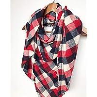 Buffalo Plaid Blanket Scarf For Woman Birthday Gift