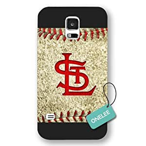 Onelee(TM) - MLB Team St. Louis Cardinals Logo Samsung Galaxy S5 Case & Cover - Black Frosted 2
