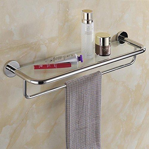 SSBY Bathroom cosmetics washed with stainless steel bathroom glass shelf Towel Bar -