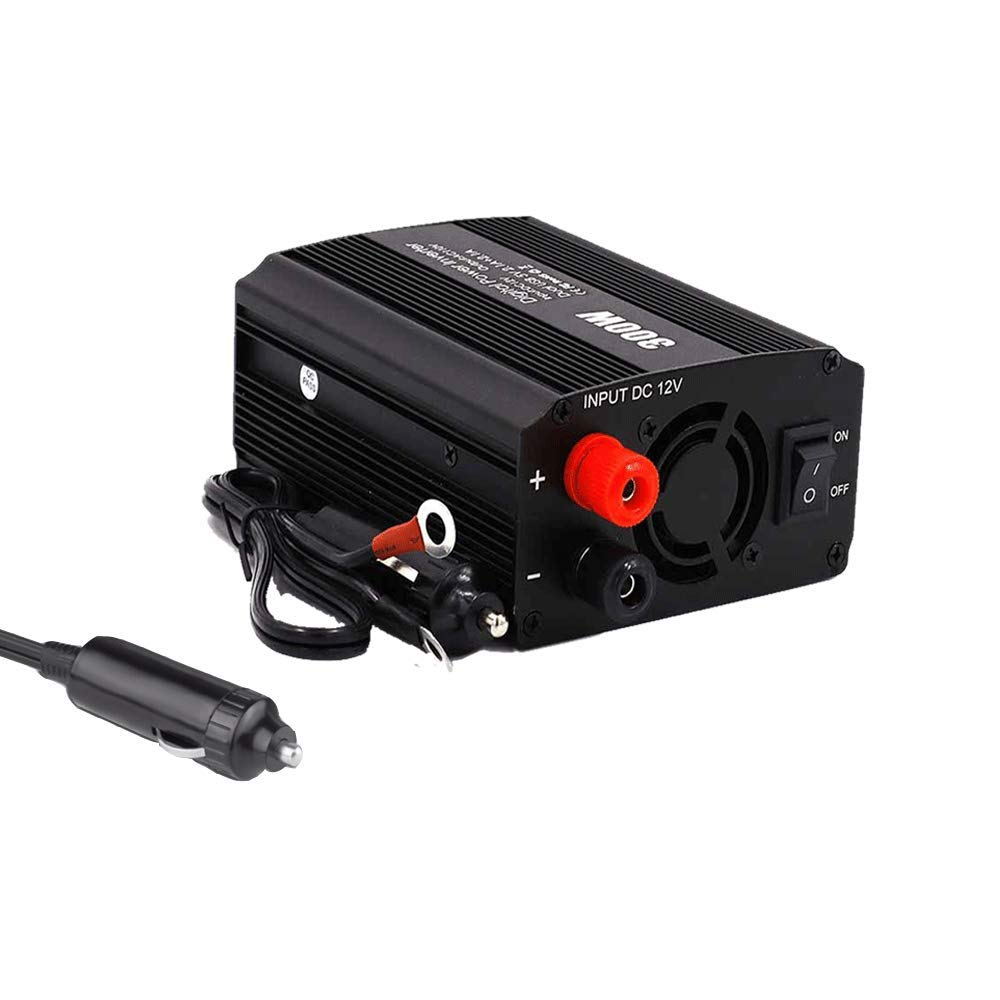 300W Car Power Inverter Runian Car Charger DC 12V to 110V AC Converter 4.8A Dual USB Ports Car Adapter