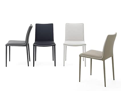 Set 2 sedie in ecopelle o tessuto Nata di Bontempi: Amazon.it: Casa ...