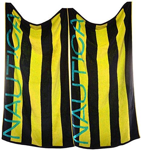 Nautica Stripe 2 Piece Beach Towel