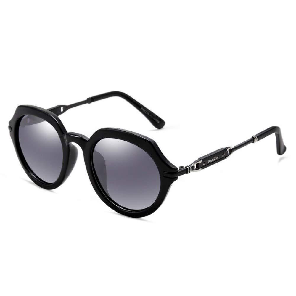 Big Box Polarized Sunglasses Trend Ladies Round Face Driving Mirror Driver color Film Glasses Driving Sunglasses Bright Black