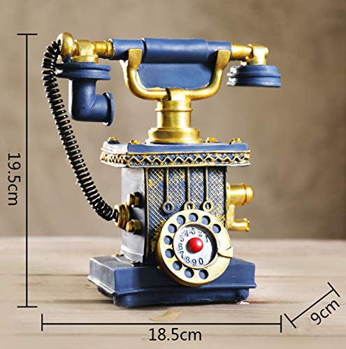 YANGLILI Phone, Creative Retro Phone Model - European Resin Button dial Phone Decoration - Living Room Cafe Decoration - Decorative Home Decoration Props Decoration