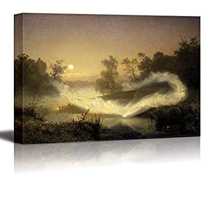Dancing Fairies by August Malmstrom - Canvas Print Wall Art Famous Painting Reproduction - 16
