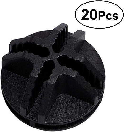 Noir OUNONA Lot DE 20/Fils Cube Plastique Connecteurs pour Cubes de Rangement Rayonnage et Armoire modulaire Organiseur Dressing Fermoir Boucle Clip