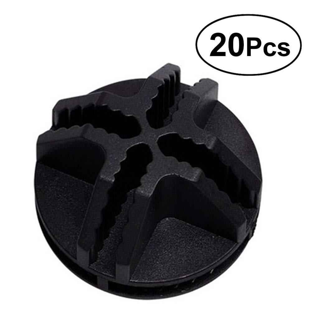 Vosarea 20Pcs Conectores de plá stico de Cubo de Alambre para el Armario del Organizador Modular y Almacenamiento de Cubo de Rejilla de Alambre (Negro)