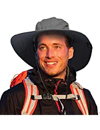 Sun Blocker Outdoor Safari Sun Hat for Men Women Wide Brim Camping Hiking Fishing Hunting Boating Lightweight Cap UPF50+