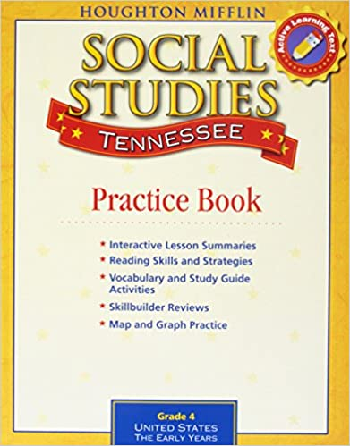 Houghton Mifflin Social Studies Tennessee: Practice Book Consumable Lv 4